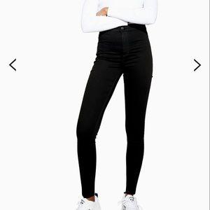 Topshop Moto pure black Joni jeans size 26/30